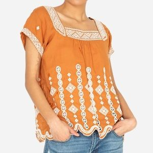 Jade Johnny Was Federica Embroidered Top | C671